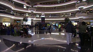 Energia reposta no maior aeroporto do mundo