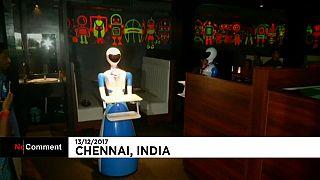 """Un restaurante """"robot"""" en el sur de la India"""