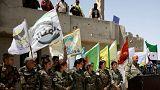 نشست خبری ماه ژوئن نیروهای دموکراتیک سوریه در استان رقه