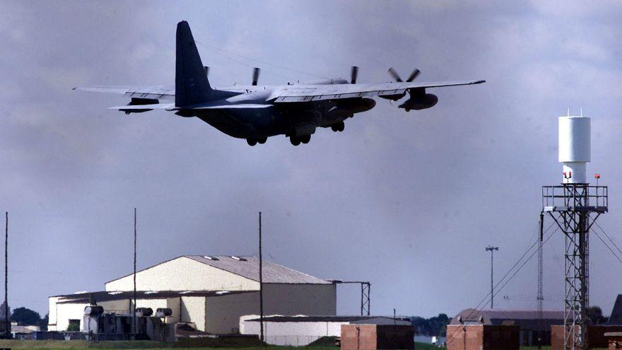 Egy időre lezártak egy amerikai légibázist az angliai Mildenhallban