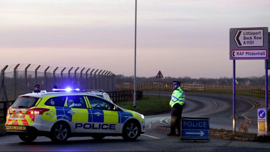 Foto de arquivo na base militar de Mildenhall