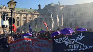 Αυστρία: Χιλιάδες διαδηλωτές στους δρόμους κατά της νέας κυβέρνησης