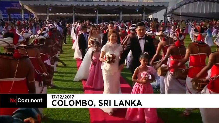 Casamento coletivo no Sri Lanka