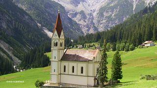 Church in Trafoi, a subdivision of Stilfs, South Tyrol
