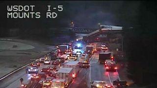 Train derailment in Pierce County, all roads near Mounts Road blocked