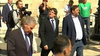 Puigdemont y Junqueras en un acto reivindicativo el pasado 6 de septiembre