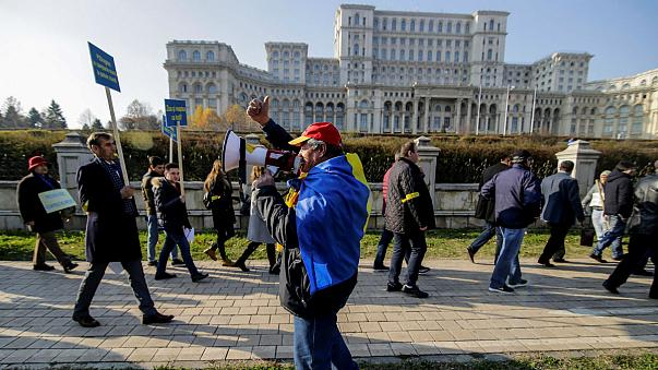 Romania: protesters' creative new way of trolling their under fire MPs