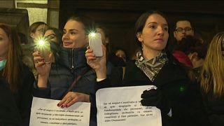 Судьи и прокуроры на улицах Бухареста