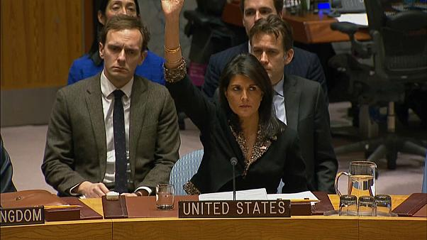 US stands alone at the UN and vetoes resolution over Jerusalem