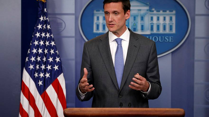 Bossert speaks to reporters about a recent global cyber attack