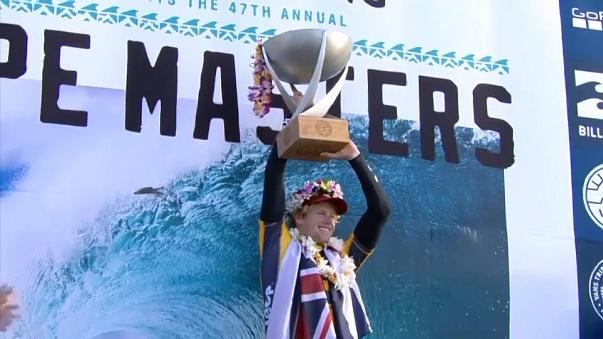John John Florence defends a maiden world title by clinching the 2017 World Surf League championship