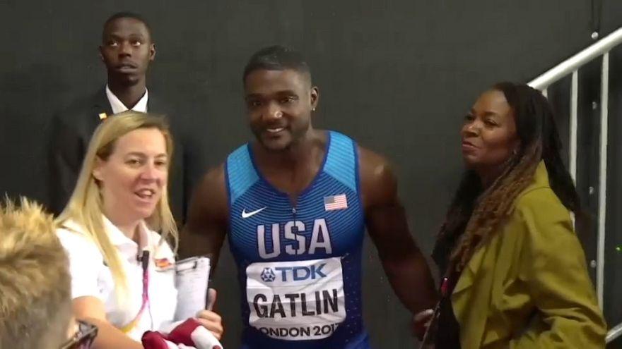 Il velocista statunitense, campione del mondo dei 100 metri, Justin Gatlin