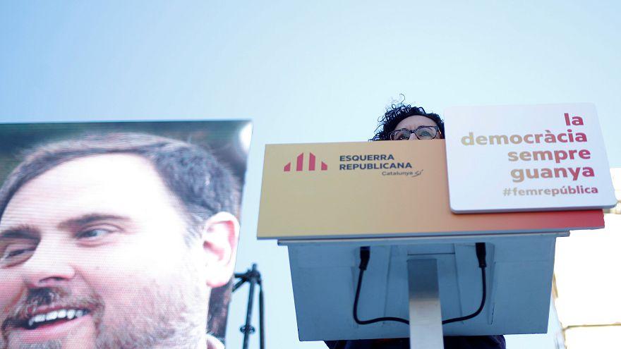 A börtönből kampányoló katalán politikus