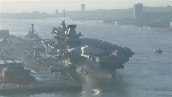 Royal Navy's pride & joy springs leak on sea trials