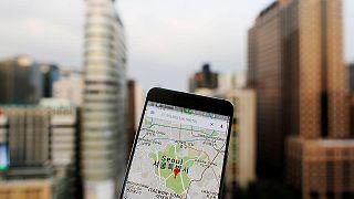 هاتف ذكي يعتمد ميزة تحديد المواقع