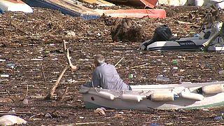 La basura invade el puerto de Dubrovnik