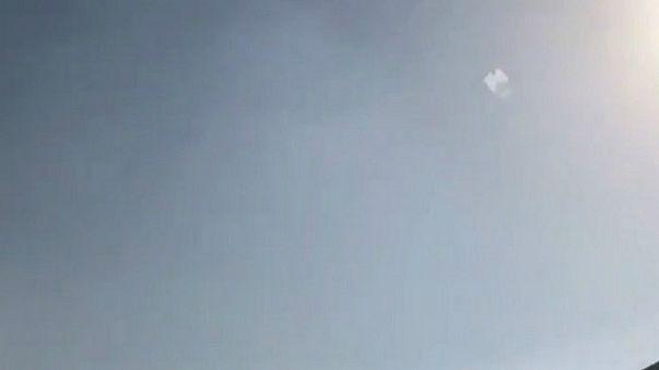 الصاروخ البالستي الذي اعترضته القوات الدفاعية الجوية السعودية