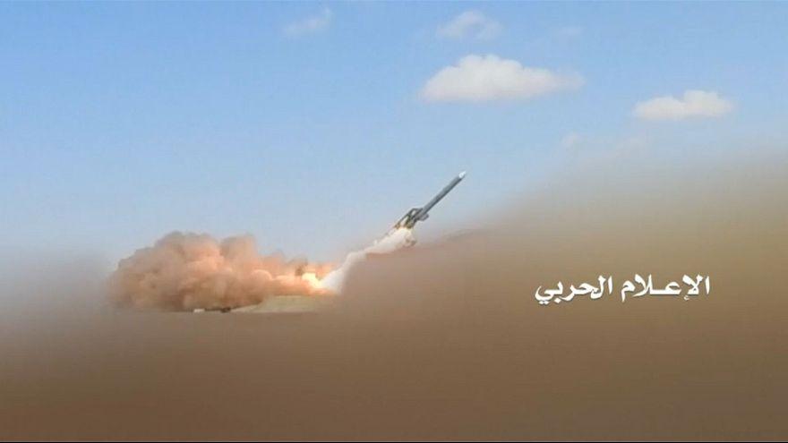 تصویری که حوثیها از موشک شلیک شده به ریاض در روز سهشنبه منتشر کردند