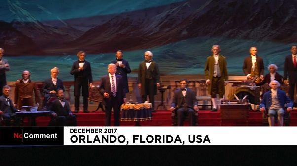 الرئيس الاميركي دونالد ترامب ينضم الى قاعة الرؤساء في عالم ديزني