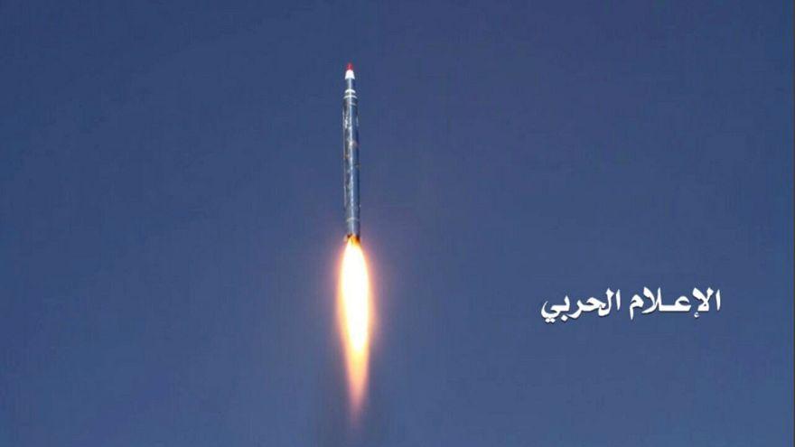 ویدئوی آخرین موشکی که حوثیها به ریاض شلیک کردند