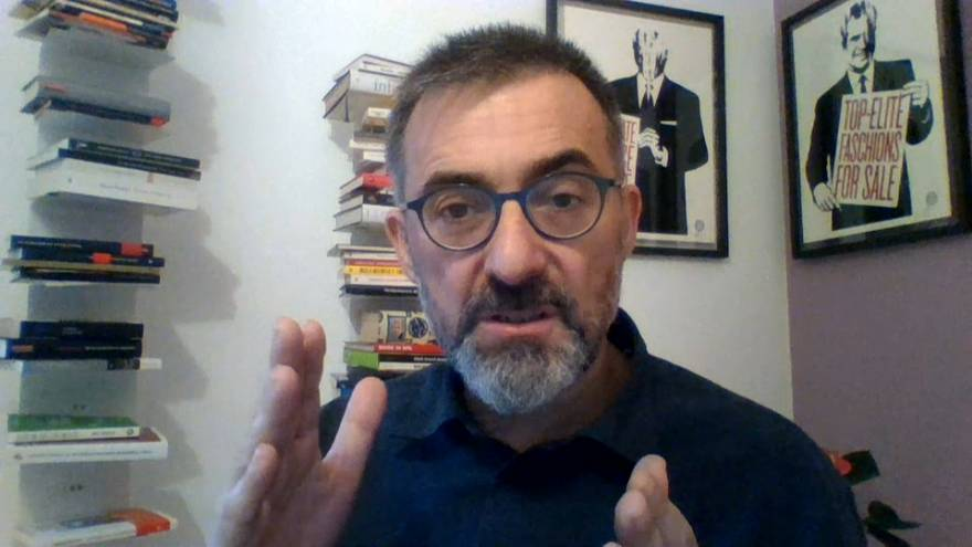 El analista político Antoni Gutiérrez-Rubí durante la entrevista