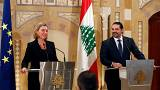 """Satisfaction"" de Federica Mogherini au Liban"