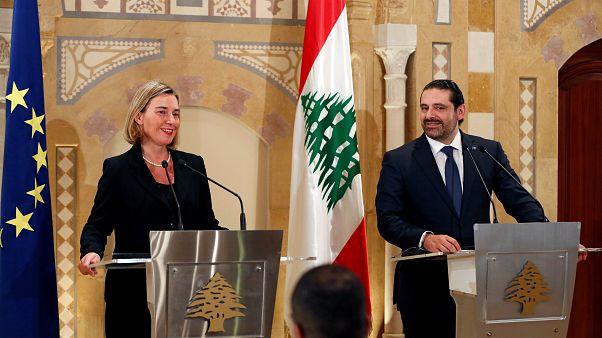 """Satisfaction"" de Federica Mogherini au Liban"