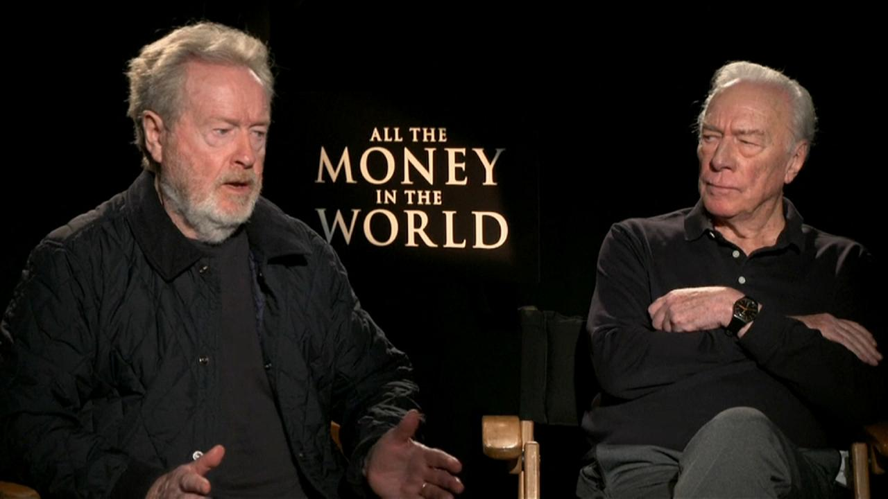 Film director Ridley Scott and actor Christopher Plummer