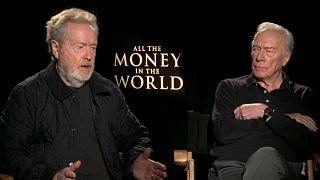 Film director Ridley Scott and actor Christopher Plummer