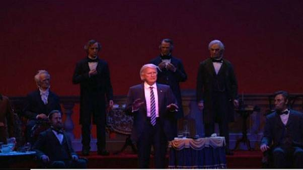Animatronic Trump doll joins Disney's Hall of Presidents