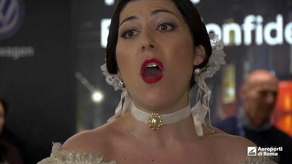 "Ópera ""aterra"" no Aeroporto de Roma"