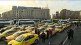 Utasszállítók tiltakoztak Bukarestben