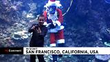 O Pai Natal 'aquático' de San Francisco