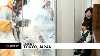 O novo ano japonês festeja-se até a lavar janelas