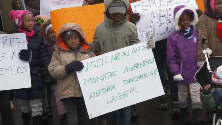 Demonstration gegen Abschiebung