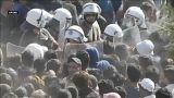 Столкновения мигрантов на острове Лесбос