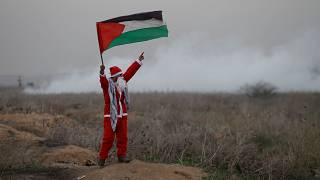 near the border with Israel in the east of Gaza City December 19, 2017.