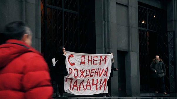 Geheimdienst-Geburtstag: Pussy-Riot-Aktivistin festgenommen