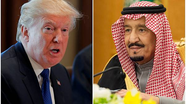 دونالد ترامپ، رئیس جمهوری آمریکا و سلمان بن عبدالعزیز، پادشاه عربستان