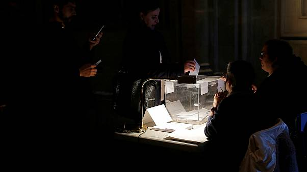 People vote in Catalonia's regional elections in Barcelona