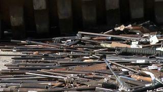Бразилия: незаконное оружие пустили под каток