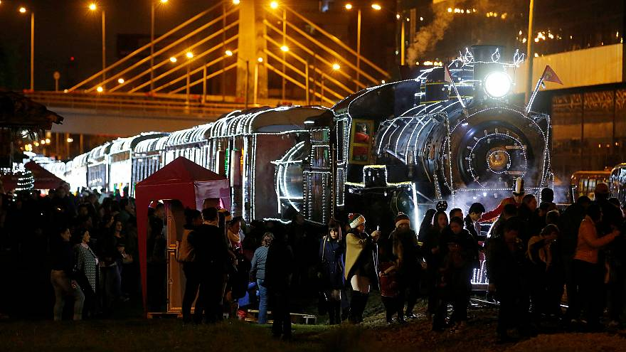 Bogota'da Noel treni