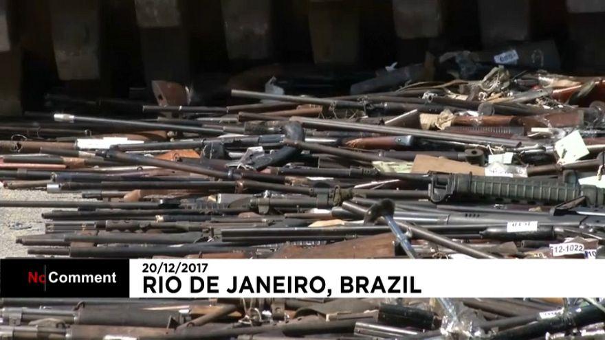 Brasilien: 2000 Waffen zerstört
