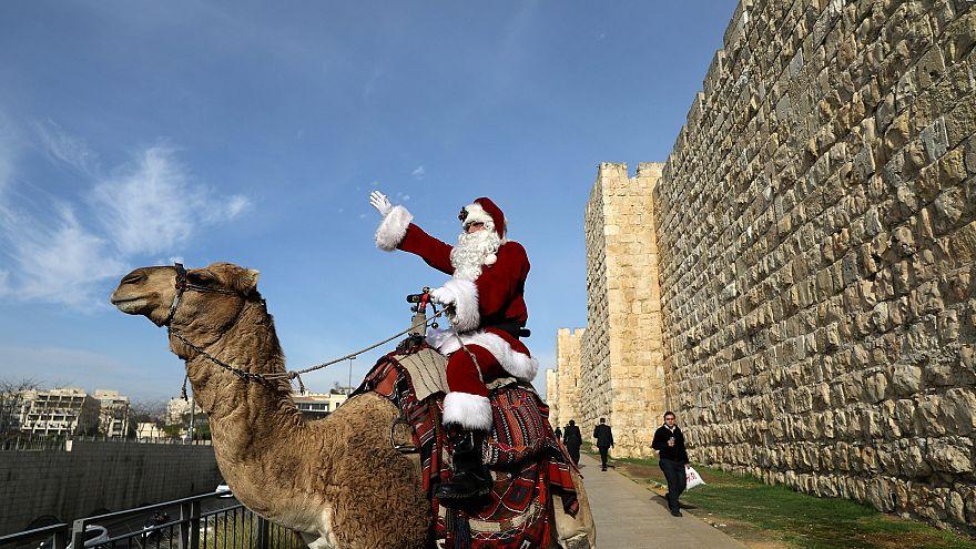 Санта в Иерусалиме
