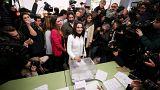 Katalan liderler de sandık başında