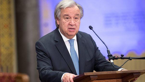 UN-Generalsekretär Antonio Guterres in Den Haag