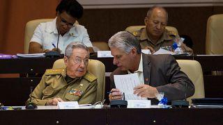 رائول کاسترو و جانشین احتمالی او معاون حزب کمونیست کوبا