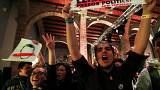 Catalonia election: a dramatic day in pictures
