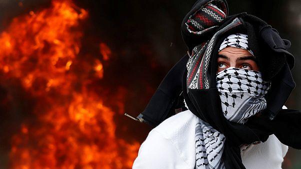 یک تظاهر کننده فلسطینی