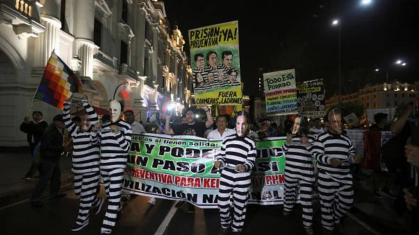 Proteste gegen Kuczynski in Lima
